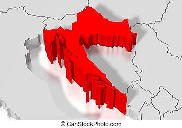 3D map - Croatia