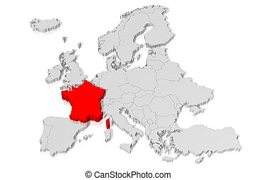 3D map - France