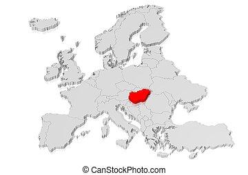 3D map - Hungary