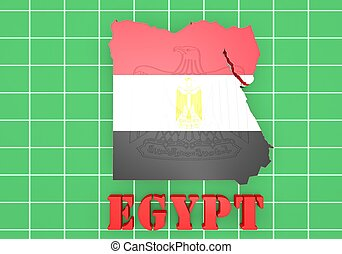 Map illustration of Egypt with map