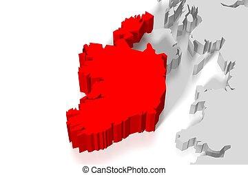 3D map - Ireland
