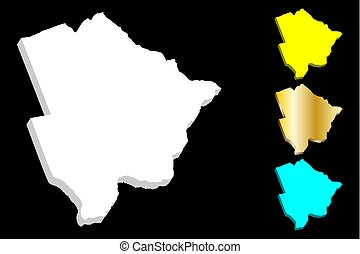 3D map of Botswana