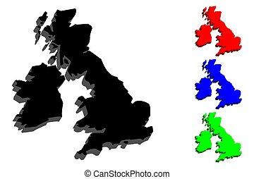 3D map of British Isles