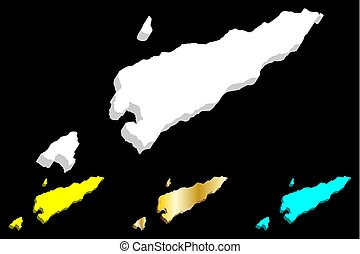 3D map of East Timor