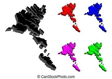 3D map of Faroe Islands