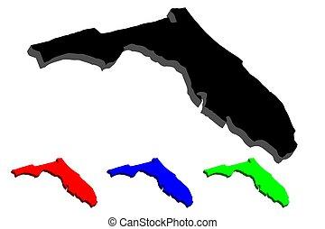 3D map of Florida
