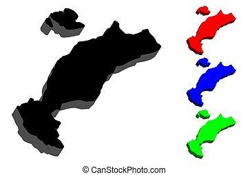 3D map of Kos