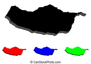 3D map of Madeira