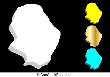 3D map of Niue