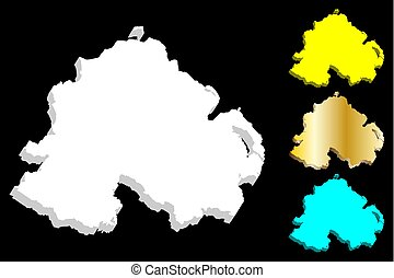 3D map of Northern Ireland