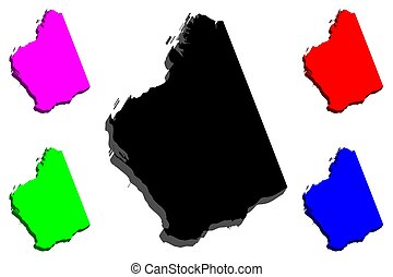 3D map of Western
