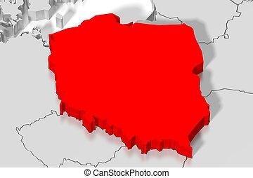 3D map - Poland