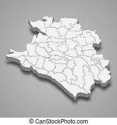 3d map region of Russia Template for your design - 3d map of...