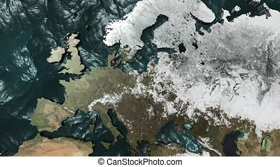 3D Map Rotate Europe with NO Sun