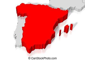 3D map - Spain