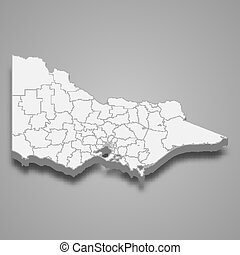 3d map state of Australia Template for your design - 3d map ...