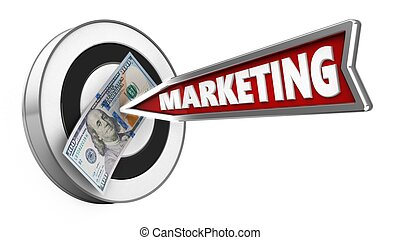 3d marketing arrow