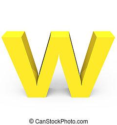 Matte light yellow font W