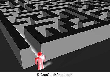 3D maze/ labyrinth concept