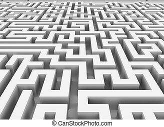 3d maze - 3d rendering of endless maze