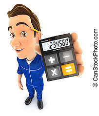 3d mechanic holding calculator