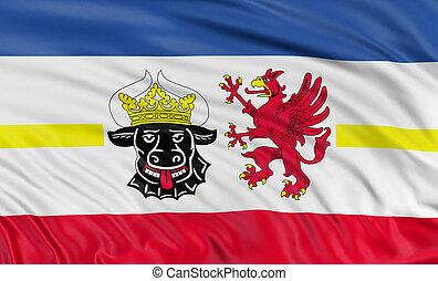 3D Mecklenburg-Vorpommern Flag - Rendering of flag...