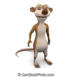 3d Meerkat - 3d render of a cartoon meerkat