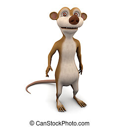 3d Meerkat - 3d render of a cartoon meerkat