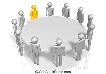 3D meeting concept