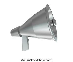 3d megaphone concept