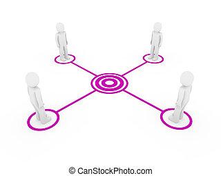 3d men connection purple