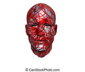 3D men face with texture