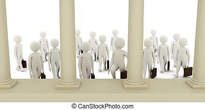 3d men going to bank