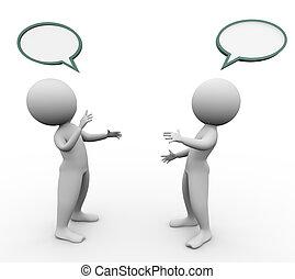 3d men speech bubble - 3d men with empty speech bubbles ...