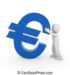 3d, menschliche , euro