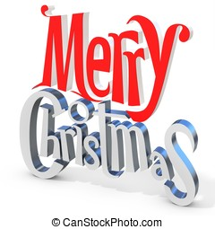 3d Merry Christmas text