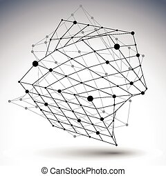 3D mesh design abstract object