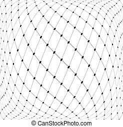 3D mesh pattern. Abstract textured background. Vector art.