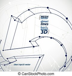 3d mesh update sign isolated on whi
