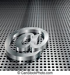 3d, metálico, símbolo