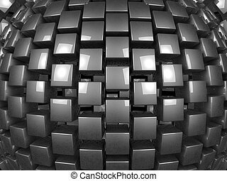3d metal cubes background pattern 3d illustration