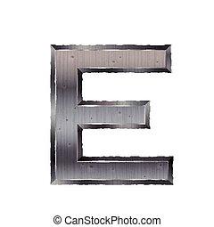 3d metal letter E