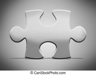 3d metal puzzle piece