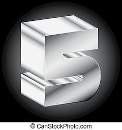 3d Metal silver 5 Vector