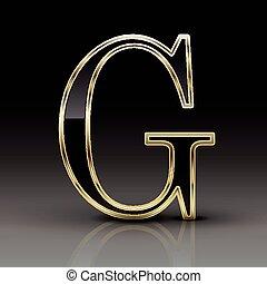 Gold letter g on black hairline gold letter g on black 3d metallic black letter g altavistaventures Choice Image