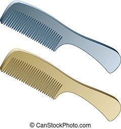 3d metallic combs