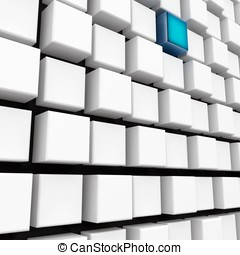 3d metallic cubes abstract wall