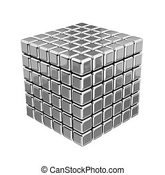 3D Metallic Cubes