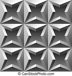 3d metallic seamless pattern