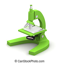 3d Microscope on a white background